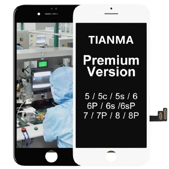 IPhone X için iPhone 5S SE 6 6 artı LCD ekran Tianma değiştirme için dokunmatik ekran ile 7 7 artı 8 8 artı LCD ekran