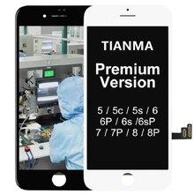 ل فون X ل فون 5S SE 6 6 زائد LCD شاشة تيانما استبدال مع شاشة تعمل باللمس ل فون 7 7 زائد 8 8 زائد LCD عرض