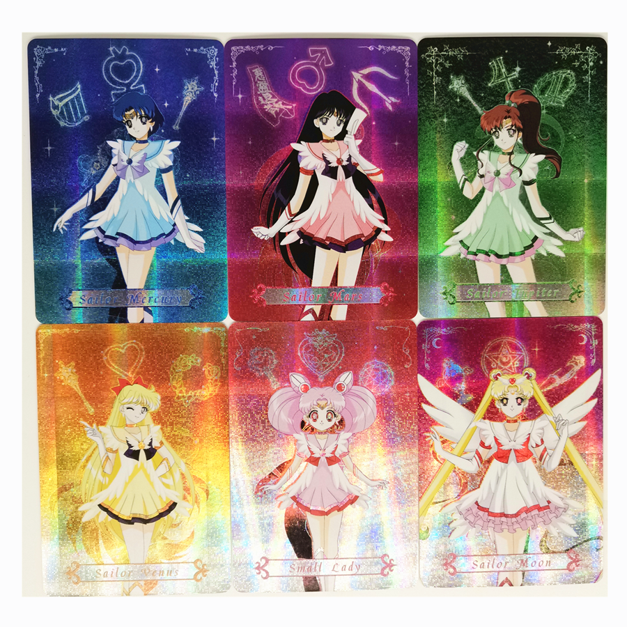 10pcs/set Sailor Moon Toys Hobbies Hobby Collectibles Game Collection Anime Cards