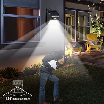 Rechargeable Solar Light 20 30 48 60 96 LED Waterproof PIR Motion Sensor Security Solar Lamp Outdoor Emergency Wall Light 5