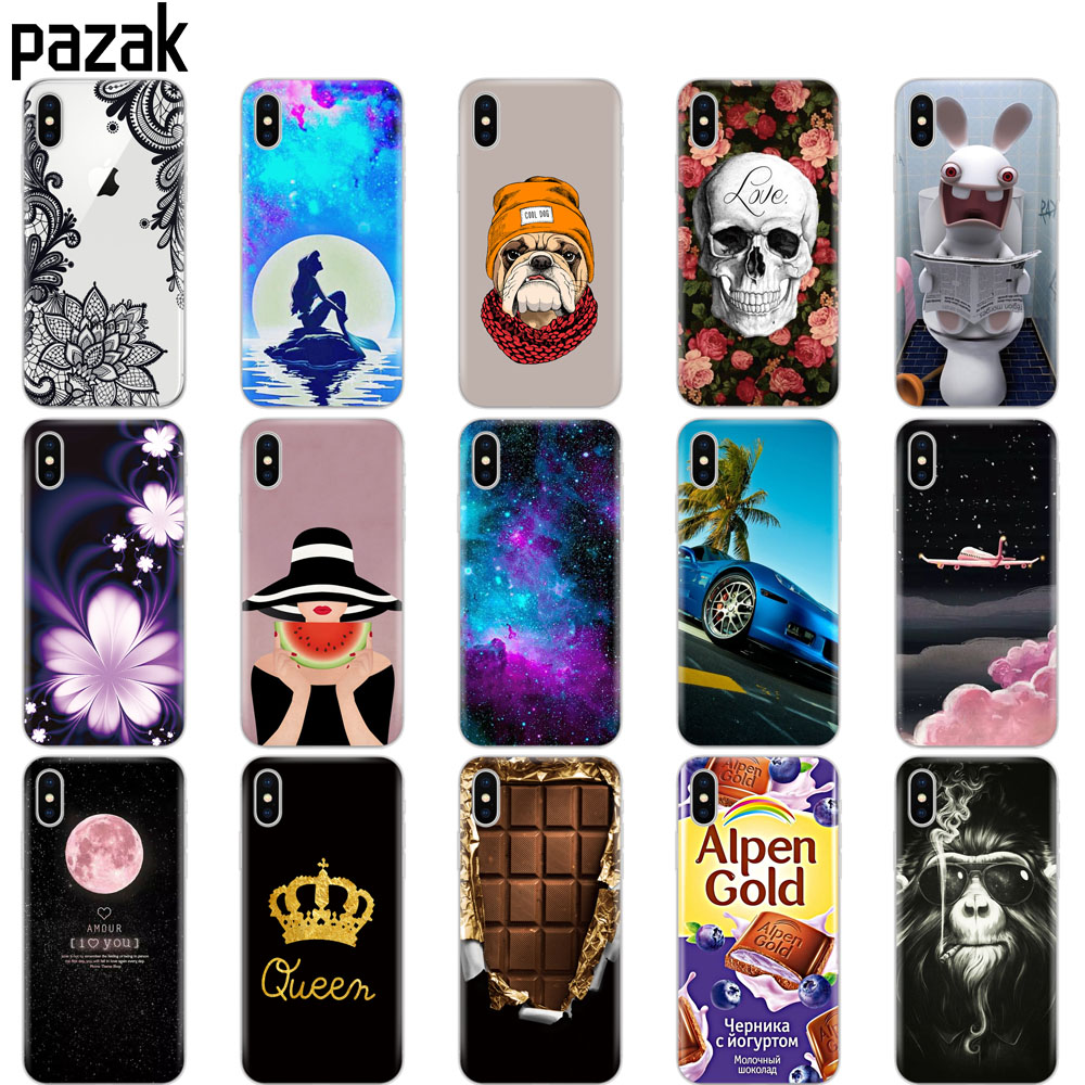 Silicone Cover Phone Case For iphone X XS XR Cases for iphone xs max coque etui bumper back cover full 360 protective soft tpu in Fitted Cases from Cellphones Telecommunications
