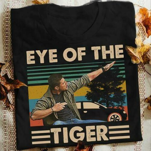 Dean Winchester Supernatural Eye Of The Tiger Vintage Retro Men'S Tee T Shirt Adult Summer Streewear Size:S-3Xl
