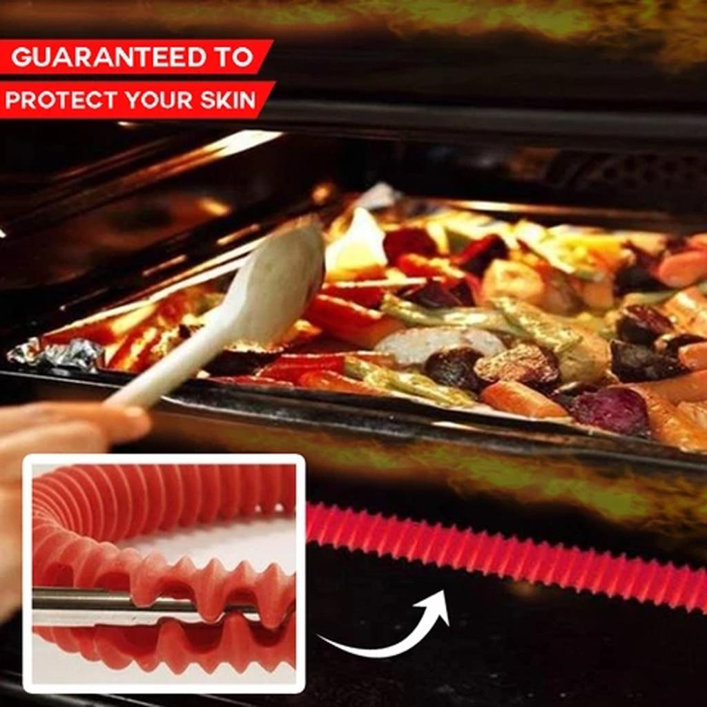 Защита для краев полки духовки без прикосновений защита от высоких температур термостойкая полоса стойка защита от сгорания стойка крышка ...