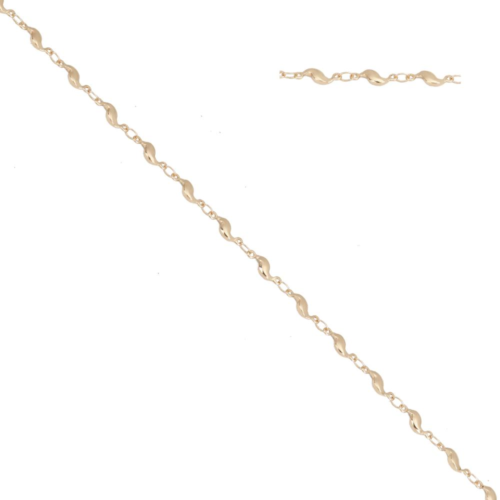 8Seasons New Simple Iron Based Alloy Link Chain Gold Color Leaf Style Women Gifts Jewelry DIY Findings 11x4mm( 3/<font><b>8</b></font>