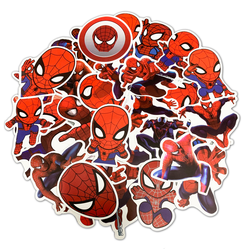 50 / 35 Pcs/Set JDM Super Hero Stickers for Marvel The Avengers for Luggage Laptop Motorcycle Guitar DIY PVC Waterproof Sticker