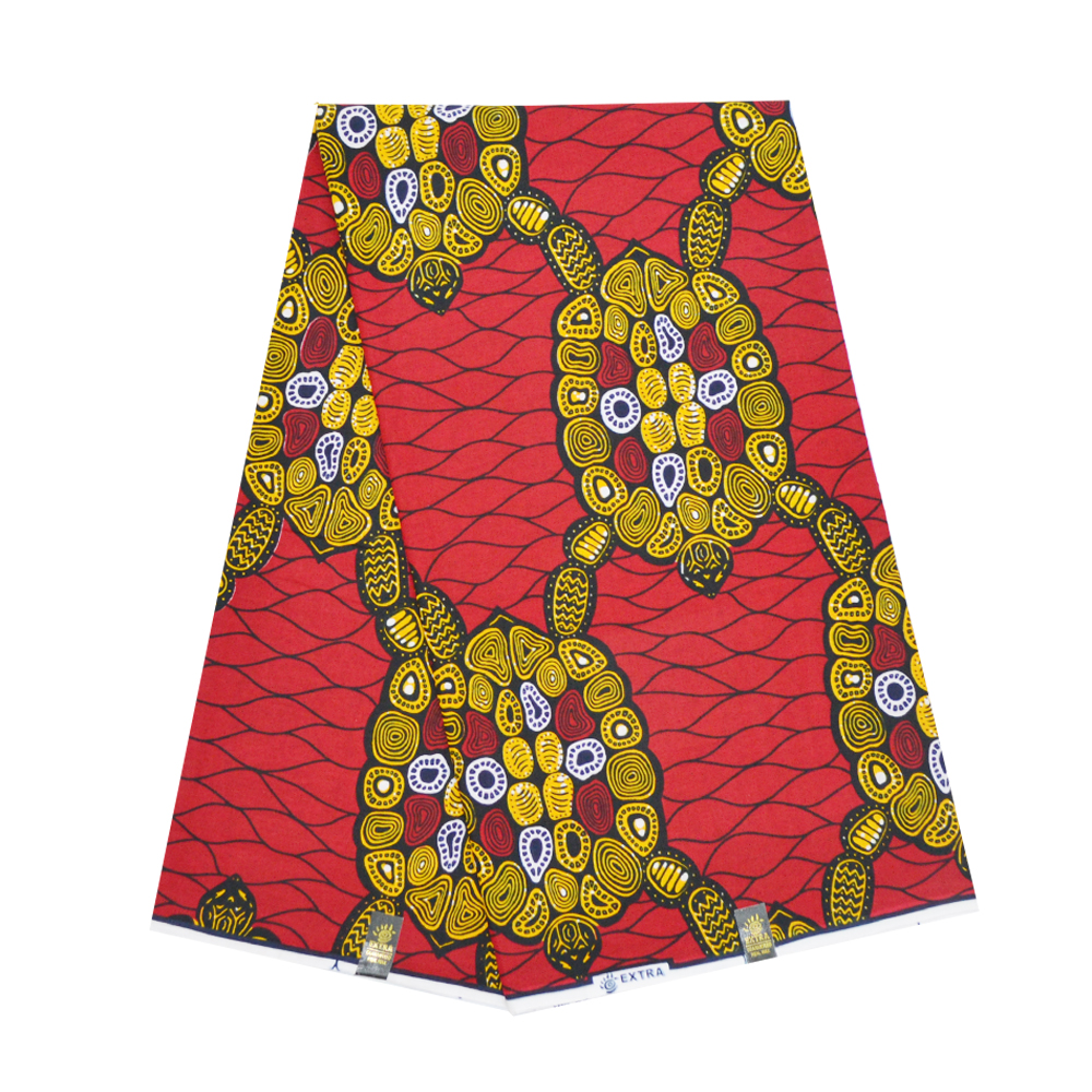 Red Ankara African Cotton Real Wax For Dress Block Prints Tissue Ghana Nigerian Wax Materials For Sewing 6 Yards Free Shipping