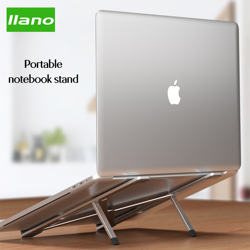 Llano Portable Laptop <font><b>Stand</b></font> Foldable <font><b>Notebook</b></font> <font><b>Stand</b></font> Holder For Macbook Lapdesk Computer <font><b>Cooling</b></font> Bracket Flat Bracket Lift table image