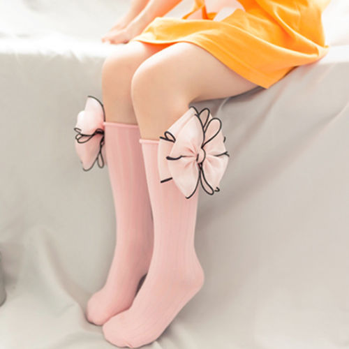 Toddler Baby Stocking Girls Tiny Newborn Knitted Ankle Fashion Style Knee High Lace Stocking