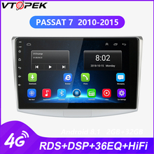 Vtopek Android car radio gps multimedia player for Passat B6 B7 CC Magotan 2010-2015 WIFI 4G net RDS DSP navigation stereo