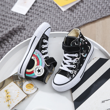 Girls Sneakers High Top Boys Shoes 2019 New Spring Autumn Fashion Sneakers Kids Casual Shoes Footwear Children Canvas Shoes стоимость
