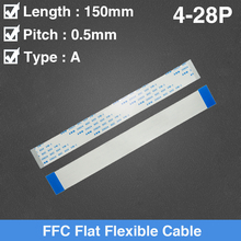 цена на FFC FPC Flat Flexible Cable LCD Cable AWM 20624 80C 60V VW-1 FFC 0.5MM 15cm Length 4//5/6/7/8/10/12/14/16/18/20/24/26/28 Pin