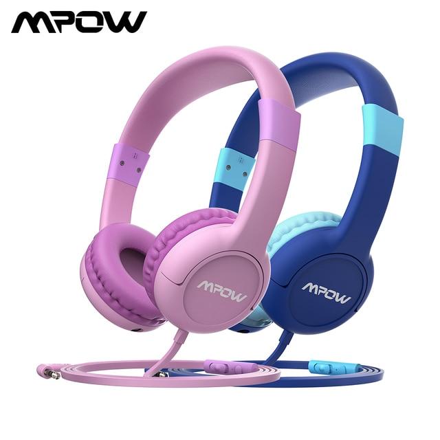 Mpow CH1S przewodowe słuchawki z mikrofonem dla dzieci śliczne 85DB objętość ograniczona ochrona słuchu słuchawki douszne dla dzieci dziewczyny chłopcy