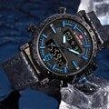 NAVIFORCE  мужские спортивные часы  модные  топ  Роскошные  водонепроницаемые  кварцевые наручные часы для мужчин  s Дата  светодиодный  аналоговы...