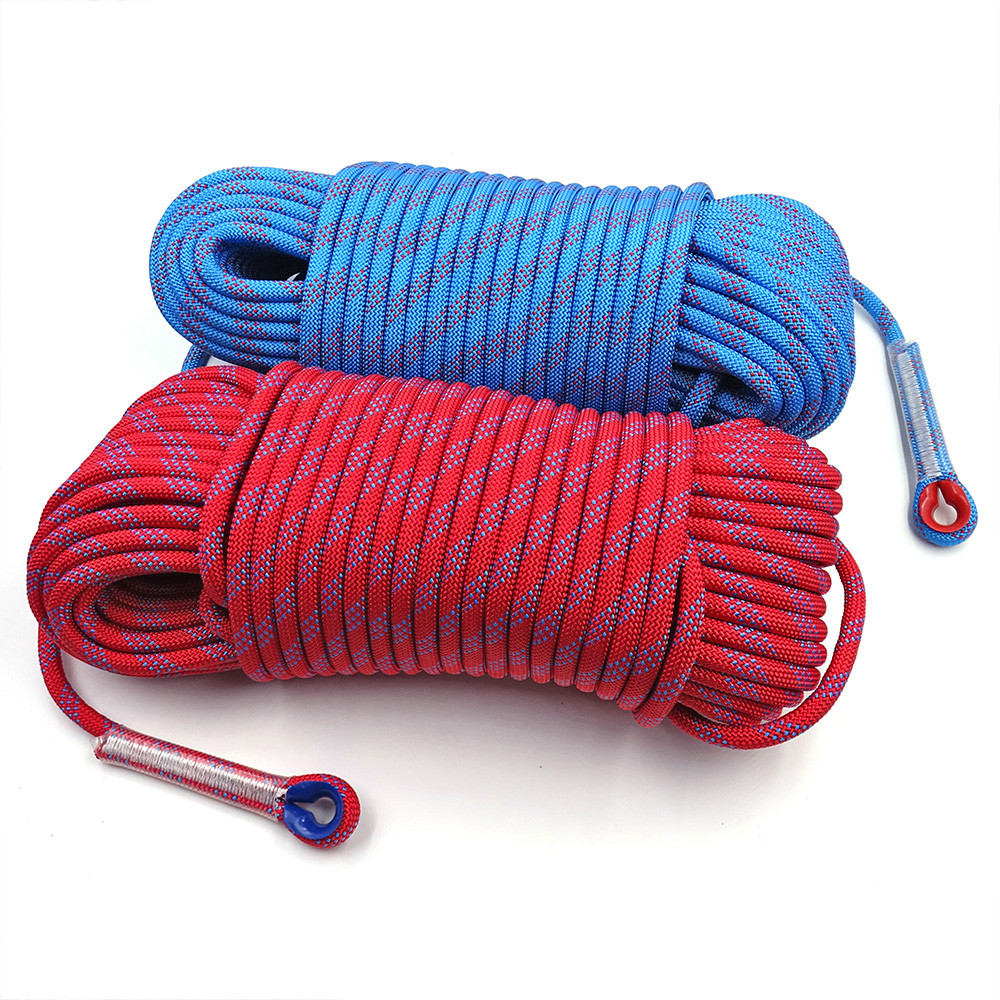 50m Static Rock Climbing Rope 10mm Tree Wall Climbing Equipment Gear Outdoor Survival Fire Escape Rescue Safety Rope 10m 20m 30m(China)