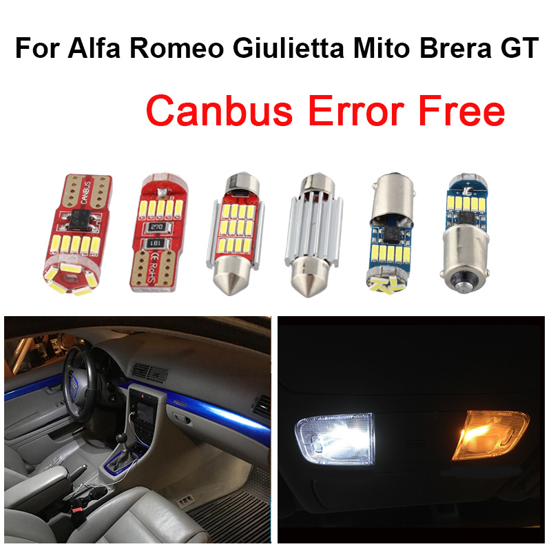 INTERIOR DOME CEILING LED SMD Bulbs KIT WHITE CAN BUS fit Alfa Romeo 159