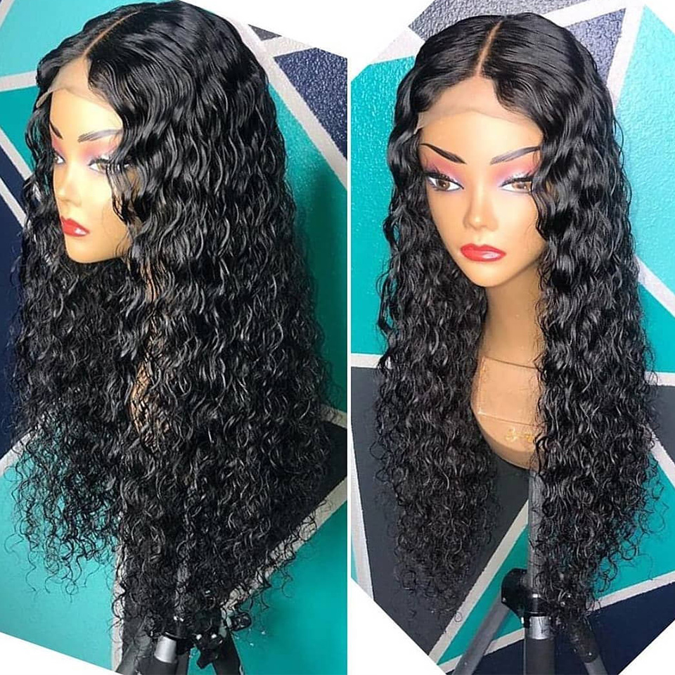 13x4 Curly Wig Lace Front Human Hair Wigs For Black Women Pre Plucked Brazilian Remy Hair Bleached Knot With Baby Hair Eseewigs