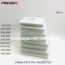 LCD מסך 250um OCA דבק ברור אופטי דבק מדבקה עבור Samsung A71 A10 כדי A80 A105 A205 A305 A405 A505 a606 A705 A805