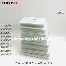 Écran LCD adhésif transparent, adhésif, 250um, OCA, pour Samsung A71, A10, A80, A105, A205, A305, A405, A505, A606, A705, A805