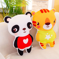 3D Double Sided Printed Panda Monkey Pillow Plush Toy Stuffed Animal Bear Koala Doll Home Plush Pillow Kids Gift