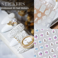 1pcs Latest 3D Nail Art Sticker 5D Retro Embossed Bohemian Style Nail Art Decal Decoration Tool AE006