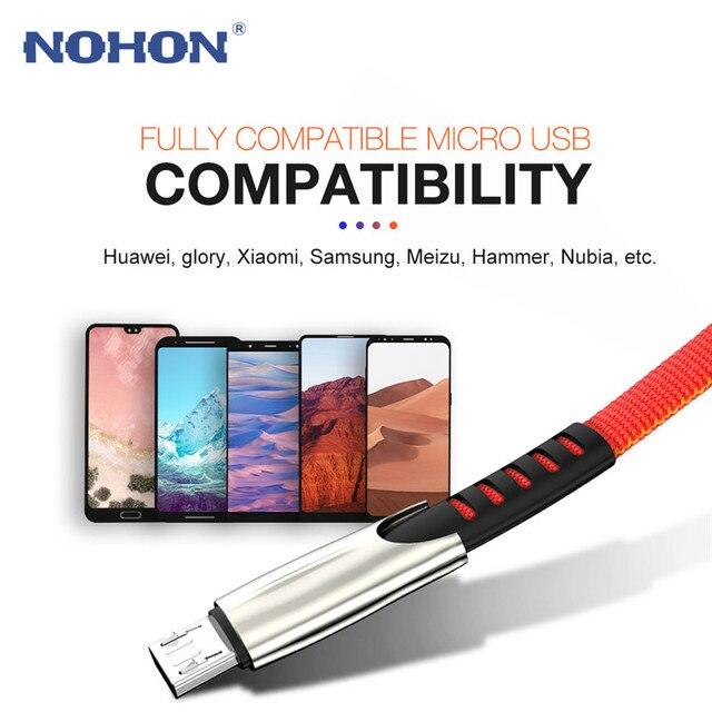 1 2 3 m Micro USB câble de charge rapide pour Samsung S7 S6 Xiaomi Redmi Huawei LG HTC Android téléphone portable chargeur données fil cordon