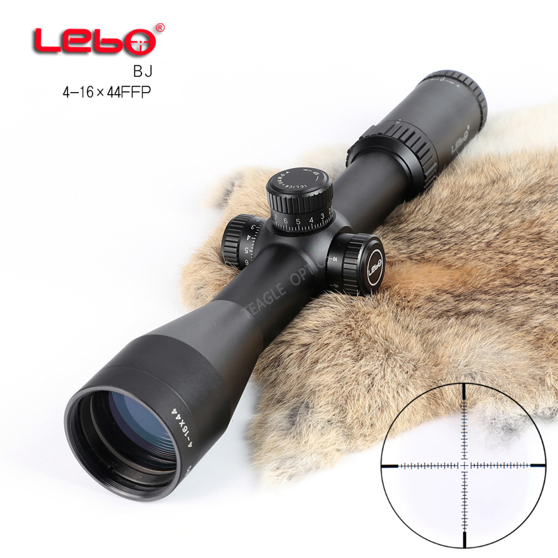 Hunting Riflescope Optical Sight BJ 4 16x44 FFP Tactical Riflescope with Mil Dot Reticle with Illumination Rifle scope in Riflescopes from Sports Entertainment