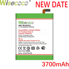 Wisecoco 3700mAh HB436178EBW Battery For Huawei Mate S CRR-CL00 CRR-UL00 Phone In Stock Latest Production+Tracking Number
