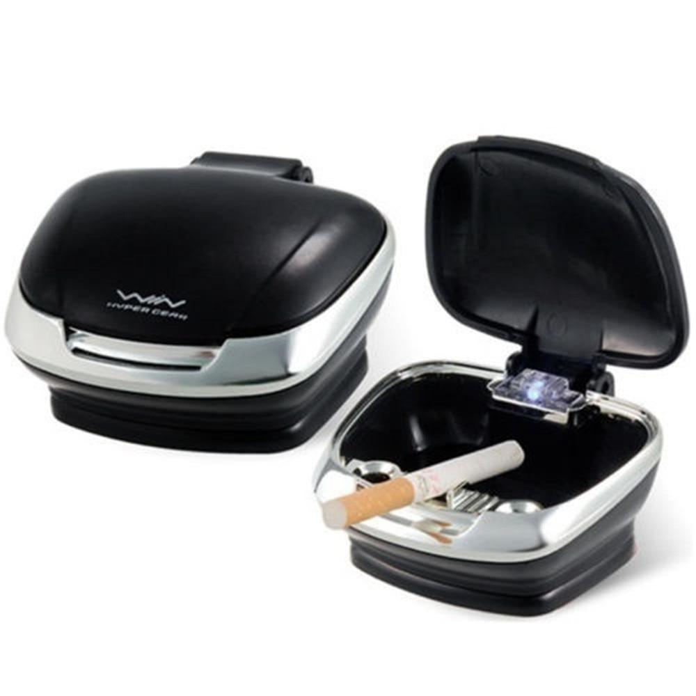 lowest price Car Auto Cigarette Lighter Ashtray Smokeless USB Charge Blue LED Light Indicator