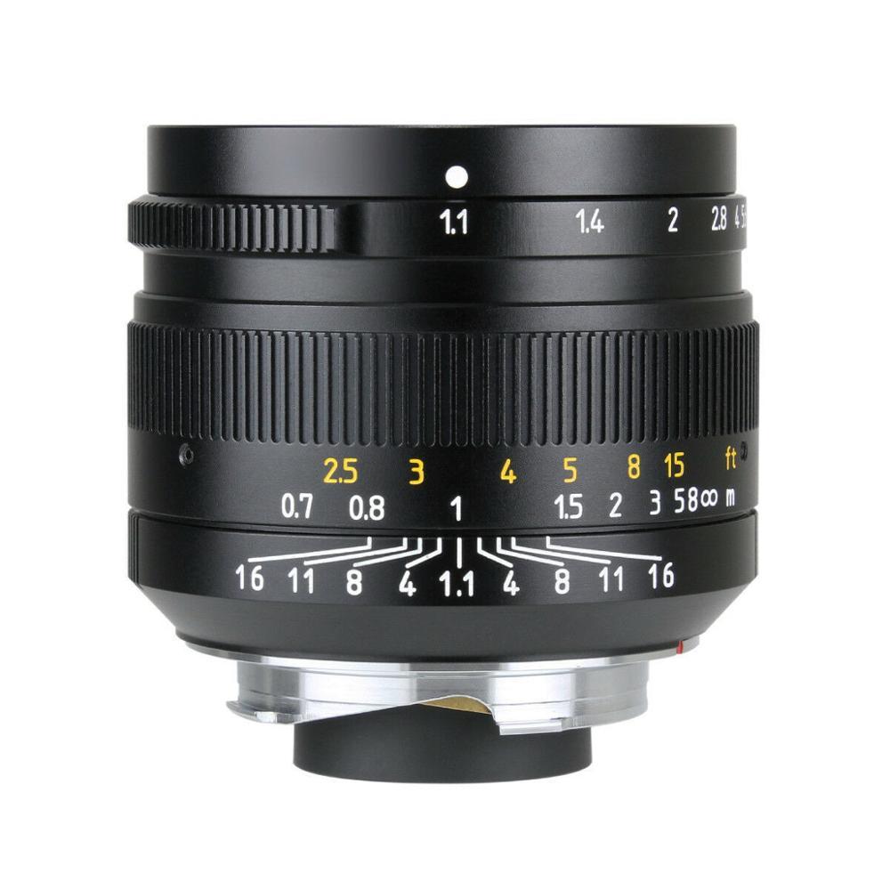 7artisans 50mm f1.1 grande ouverture paraxiale objectif manuel pour Leica M Mount M-M M3 M4 M6 M7 M8 M9 M240 M10 livraison gratuite