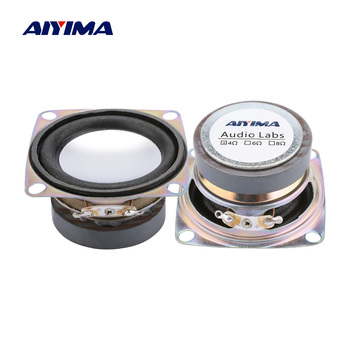 AIYIMA 2Pcs 2 Inch Full Range Tweeter Mini Speaker 4 Ohm 3W Stereo Loudspeakers Box DIY Portable Sound Speakers image