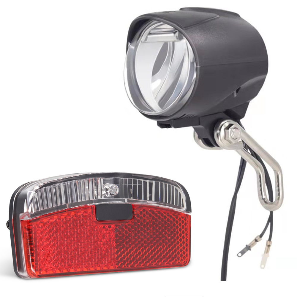 Onature Updated Dynamo Bicycle Light Set Both With Parking Light Front Light Have Switch ON/OFF LED Bike Dynamo Light