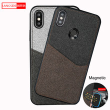 Kanvas Magnetic Case untuk Xiaomi Redmi Note 8 8 T Catatan 9 S 7 4X K20 K30 Card Slot Cover untuk Xiaomi Mi 9T 9 Se Catatan 10 A3 9Lite CC9(China)