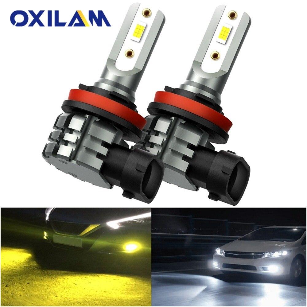 Oxilam H8 H11 H16JP LED Canbus Bulb H10 9415 9140 Led Fog Light Bulb Daytime Running Light DRL 6000k White 3000k Golden Yellow