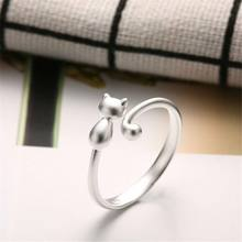Lovely Rings Cat Animal Adjustable Ring Women Charm Jewellery Gift Party Wedding(China)