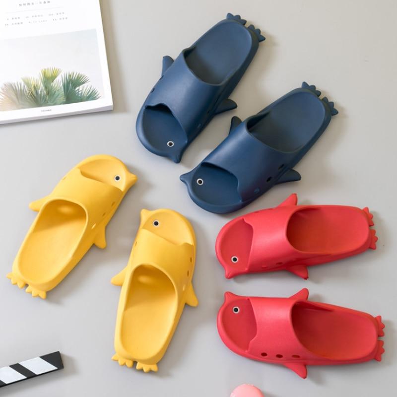 TZLDN 2020 Couple Indoor Eva Home Hotel Sandals & Slippers Women Funny Penguin Summer Non-slip Bathroom Home Slippers Wholesale