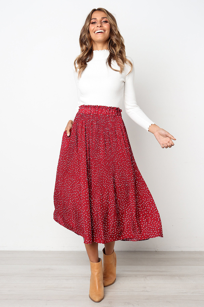 H0e6f9ea7c0404d18a732d46b325d46a3H - Summer Casual Chiffon Print Pockets High Waist Pleated Maxi Skirt Womens Long Skirts For Women