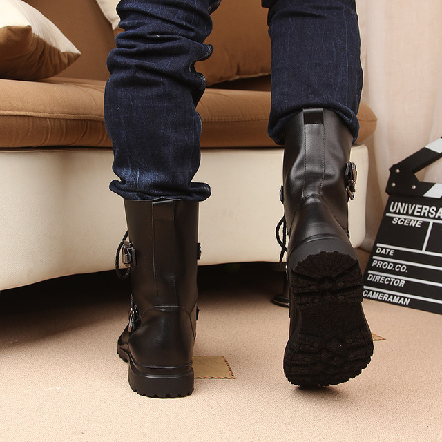 Motorcycle Martin Boots 4