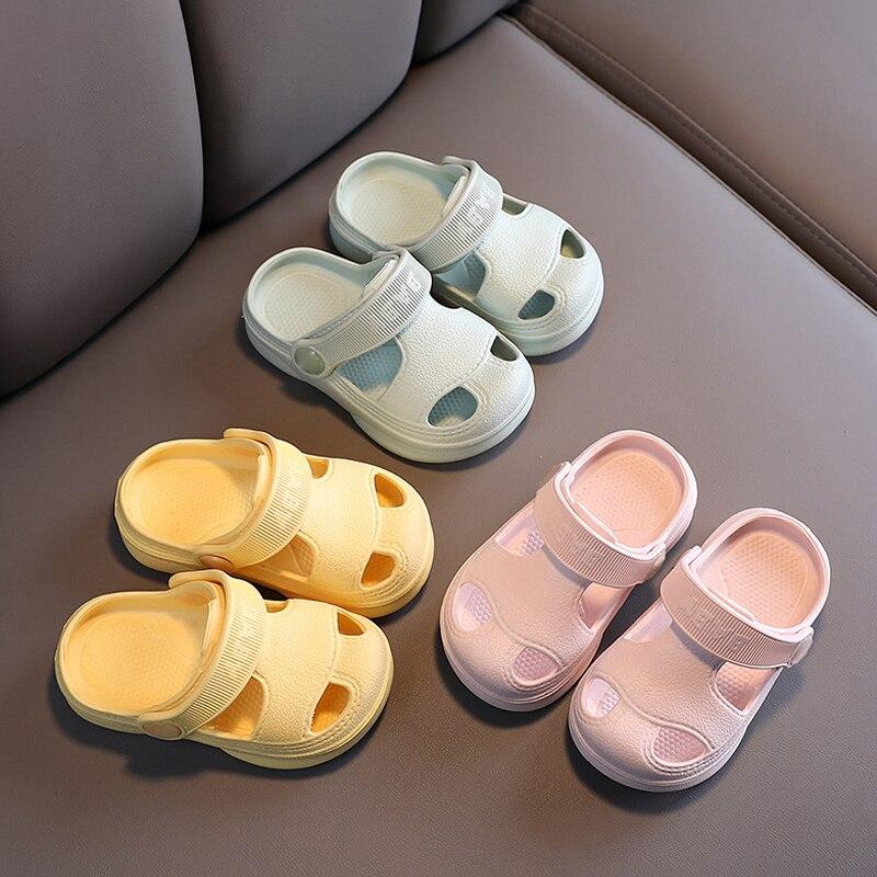Slippers For Kids Shoes Boys Girls Summer Toddler Kids Cartoon Beach Shoes Baby Soft Indoor Bathroom Slippers Flip Flops 4
