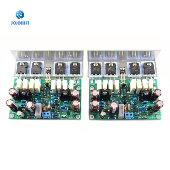 One Pair (2 Boards)L20 200W 8R Audio Stero Power Amplifier AMP Finished Board with Angle Aluminum LJM-Audio