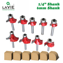 LAVIE 1pc 6mm 1/4 Shank ขนาดเล็กมุมรอบ Router Bit สำหรับไม้ขอบไม้ Mill คลาสสิก Cutter Bit สำหรับไม้ MC01035