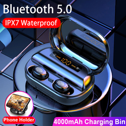 TWS Blutooth 5.0 Headphones Wireless Earphone 9D Stereo IPX7 Waterproof Earbuds With 4000mAh Charing Case LED Display Elair pro