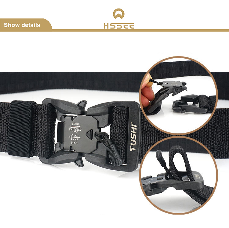 H0e6fcef49bd241da8101d026f45114efK - HSSEE Official Genuine Tactical Belt Hard ABS Quick Release Magnetic Buckle Military Belt Soft Real Nylon Sports Accessories