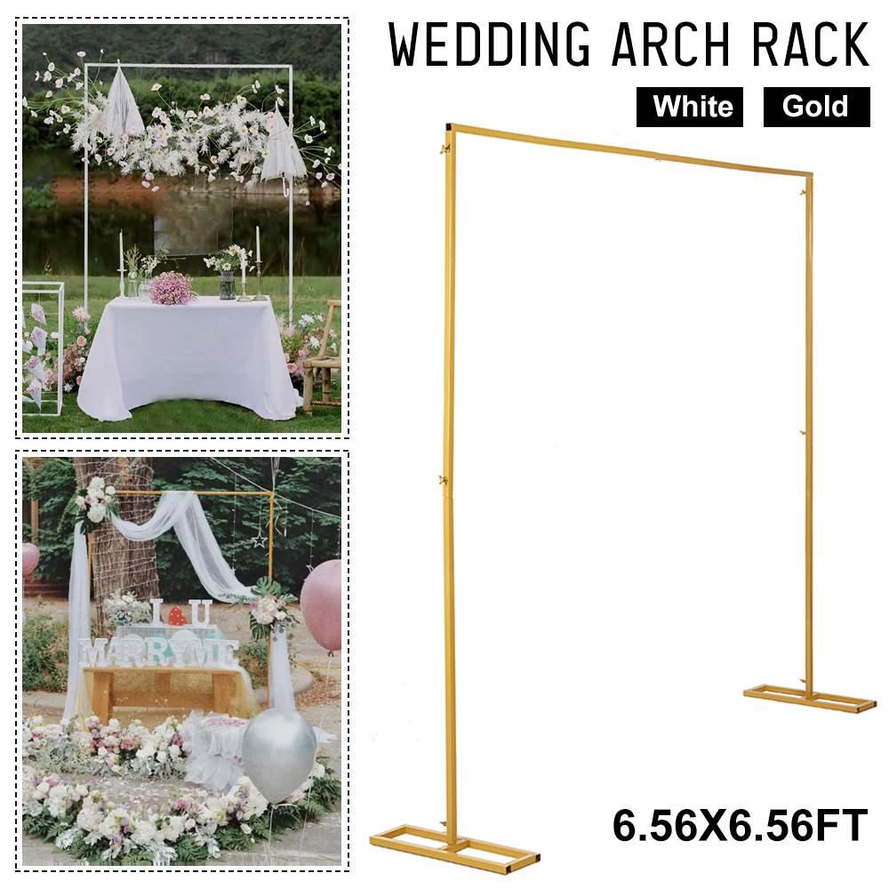 2m X 2m Wedding Background Frame Wrought Iron Decorative Flower Stand Custom Wedding Square Arch Shelf Wedding Decoration Special Promo Da5064 Cicig