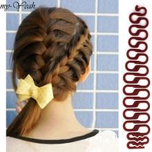 3 cores de cabelo francês trança ferramenta centopeia trança rolo gancho com magia cabelo torção estilo fabricante diy acessórios diy casa