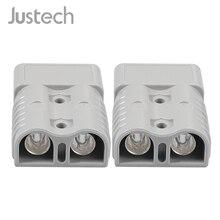 Justech 2 шт. для Anderson стиль штепсельные Разъемы 175A 600 в 1/0 AWG посеребренные Твердые медные клеммы AC/DC электроинструмент