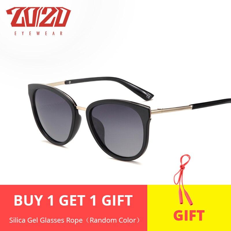 Metal Frame Oculos Sun-Glasses Retro-Style Famous Women Brand-Designer 20/20 Polarized