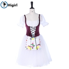 La Fille Mail Gardee Romantic Ballet Long Tutu Dress Adult Child Professional Stage Costume BT9252