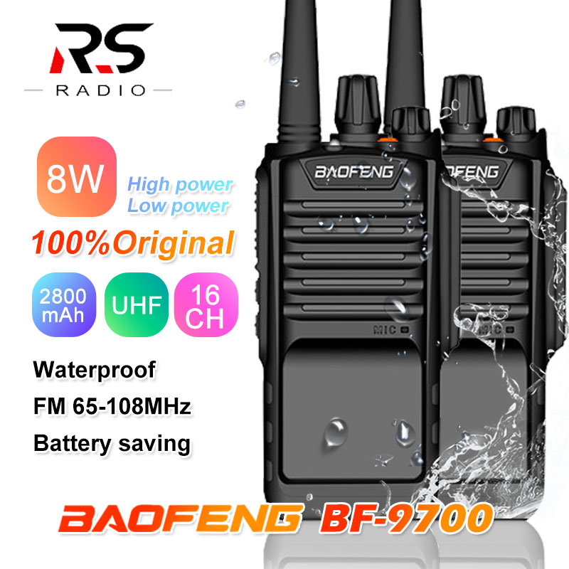 1/2/3PC BAOFENG BF-9700 8W Waterproof Walkie Talkie Powerful Marine Amateur Rádio Comunicador Transceiver CB Ham Radio Station