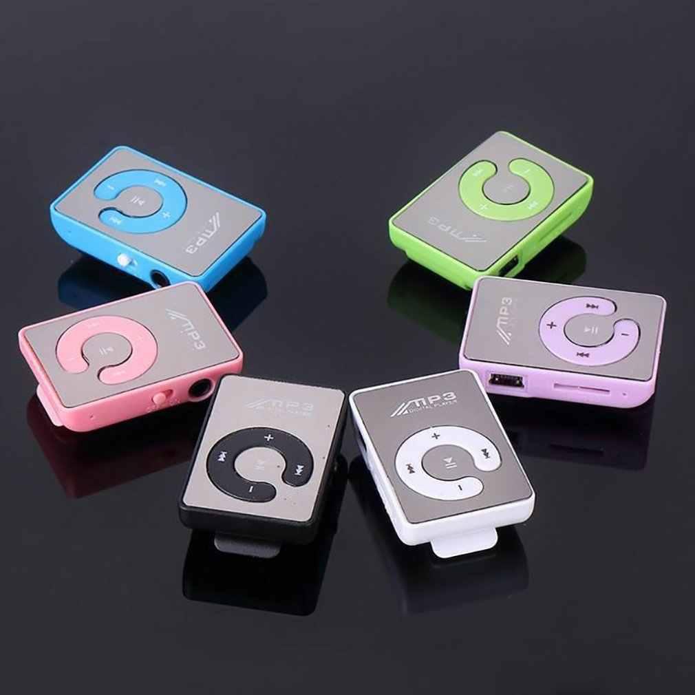 Portable Mini pince USB lecteur MP3 musique Support multimédia Micro SD TF carte mode Hifi MP3 Sports de plein air
