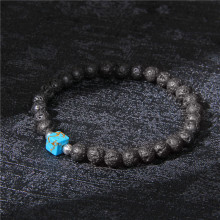 Trendy Imperial Jasper Beads Charm Bracelet Men Black Volcanic Lava Stone Beads Chakra Bracelet Jewelry for Women Male Gifts(China)